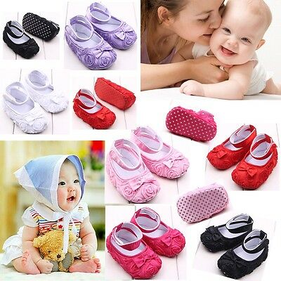 0-12 Months new Infant Baby shoes Toddler Sneakers Girl Soft Sole Crib Shoes AU
