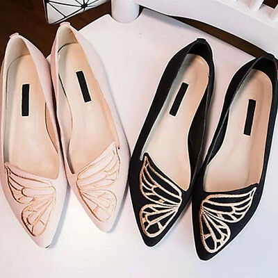 New Women's Casual Ballet Boat Shoes Slip On Flat Loafers Single Butterfly Shoes