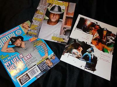Tim McGraw *2010 CMA Close Up & '08 Country Weekly Magazines+8x10 Voter Postcard