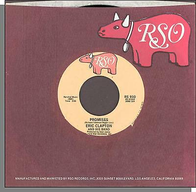 "Eric Clapton - Promises + Watch Out For Lucy - 1978 RSO 7"" 45 RPM Single!"