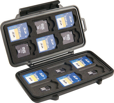 Genuine PELICAN 0915 SD SDHC SDXC Secure Digital Memory Card Case