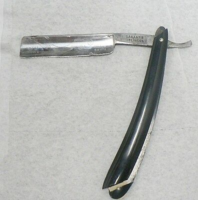 Old Sword & Moon Star Straight Razor With Case Made In Germany