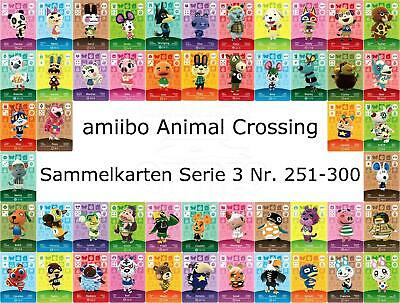 amiibo Animal Crossing Karte Nr. 251 - 300 Serie 3 Happy Home Designer, NEU