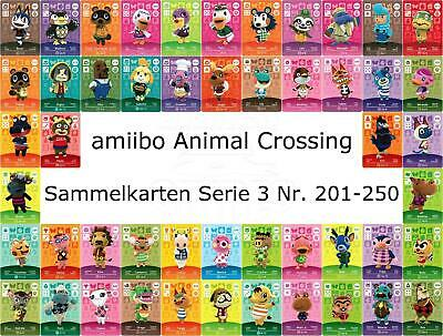 amiibo Animal Crossing Karte Nr. 201 - 250 Serie 3 Happy Home Designer, NEU