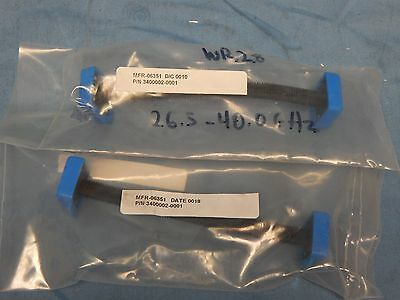 2 NEW Microtech WR28 5 Inch Flexible Waveguides, 26.5 to 40 GHz
