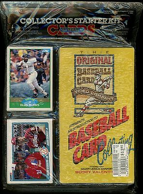 Baseball Cards Collector's Starter Kit - New 1988 VHS Video + 100 New Cards! EBD