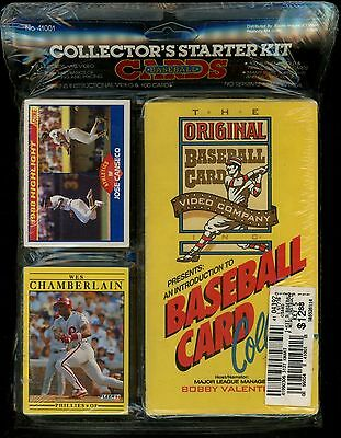 Baseball Cards Collector's Starter Kit - New 1988 VHS Video + 100 New Cards! JCW