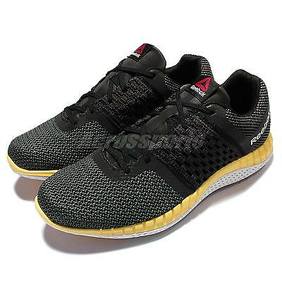 ab9eace8322 REEBOK ZPRINT RUN Black Gravel Yellow Mens Running Shoes V72328
