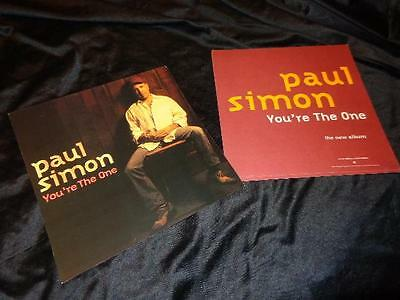 Paul Simon *FIVE Two-Sided You're The One Cardboard Poster Flats!