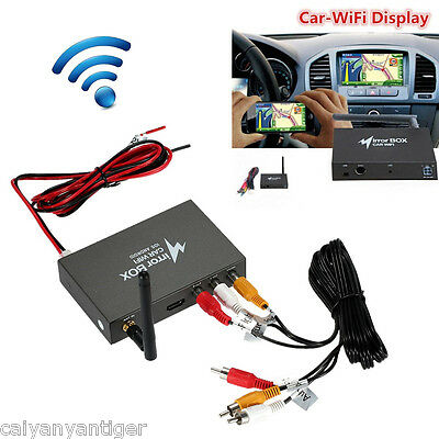 Wifi Mirror Link Box Screen Dash Android iOS GPS Navigate Electric DLNA Airplay