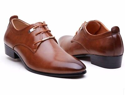 New Men's Casual Pointed Leather Lace Up Wedding Formal Dress Oxfords Shoes M37