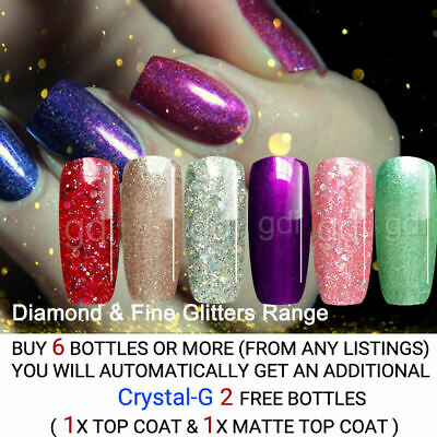"UK Brand, gdi NAILS ""Fine Glitter"" & ""Diamond Glitter"" UV/LED gel nail polish"