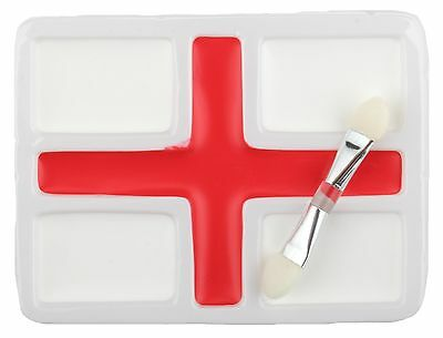 100 Packs of England Face Paints White & Red