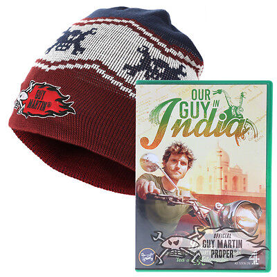 Guy Martin Our Guy in India DVD Including Burgundy Beans on Toast Beanie