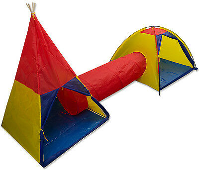 Maribelle Childrens Play Tent And Tunnel Set Kids Indoor Outdoor Garden Fun