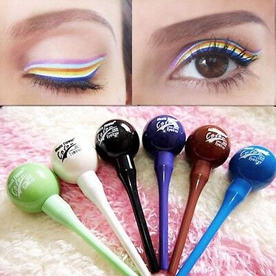 6 Colors Liquid Pen Pencil Cosmetic Lollipop Eyeliner Lasting Women