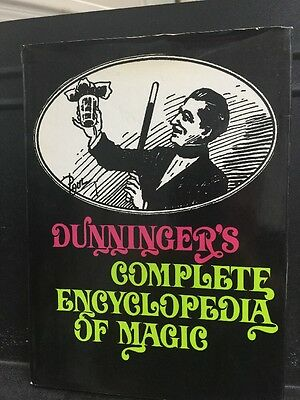 Vintage Book DUNNINGER'S COMPLETE ENCYCLOPEDIA OF MAGIC Hardcover