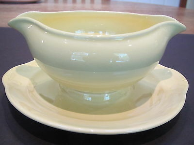 Vintage TS&T LuRay Pastels  persian cream gravy boat W attached underplate
