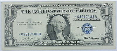 1957 Series US $1 One Dollar Star Note Silver Certificate Small Note P254091