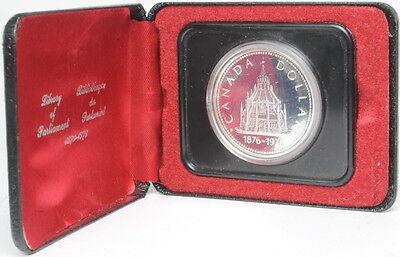1976 Canada Library Of Parliament Silver Dollar Coin Box