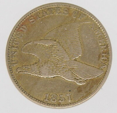 1857 U.S. Flying Eagle Cent