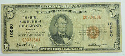 1929 US $5 Five Dollar United States National Currency P234064