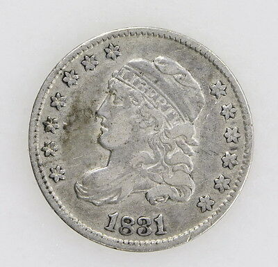 1831 Capped Bust Half Dime In Very Fine Condition 90% Silver US Coin