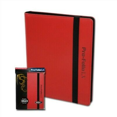 BCW Red Collectible Gaming Card Pro-Folio 9-Pocket LX Leatherette Album
