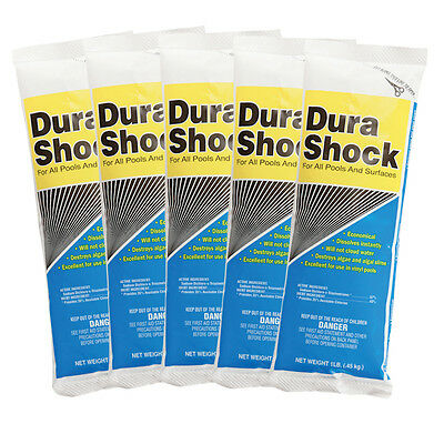 Nu-Clo Dura Shock Dichlor Granular Swimming Pool Shock - 5 x 1 lb Bags