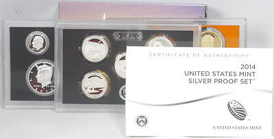 2014 United States Mint 3 Pc Silver Proof Coin Set Original Government Packaging