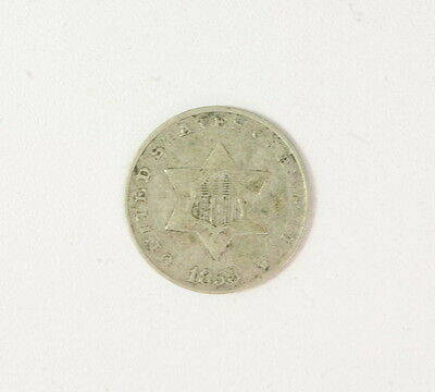 1853 Silver Three Cent Piece 3 Cent Coin
