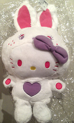 Authentic Sanrio HELLO KITTY Colorful Bunny Plush JAPAN only Rare 12 inch 30cm