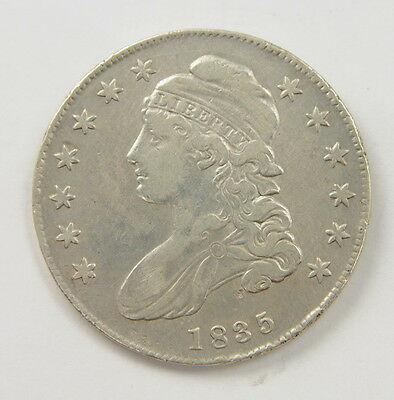 1835 US Mint Bust Half Dollar 50 Cent Silver Coin