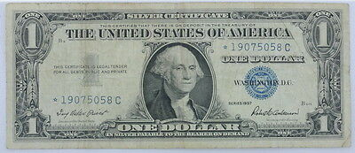1957 Series US $1 One Dollar Star Note Silver Certificate Small Note P254060