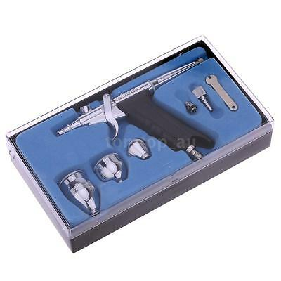 Airbrush Spray Gun 0.2/0.3/0.5mm Needle Double-action Trigger Painting Kit M4I3