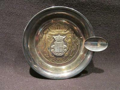 Oldenzaal Netherlands Vintage Metal Ashtray with Coat of Arms Zilverstad