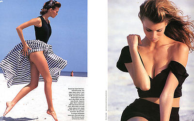 "1992 Rico Puhlmann Niki Taylor 13-page MAGAZINE EDITORIAL ""Summer Style"""