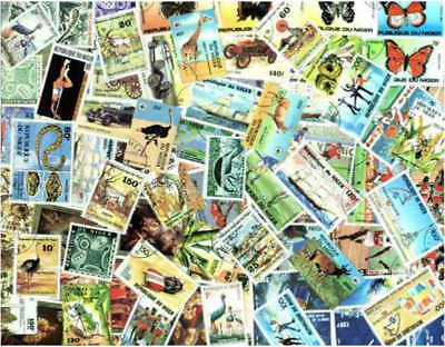 Niger Stamp Collection - 100 Different Stamps