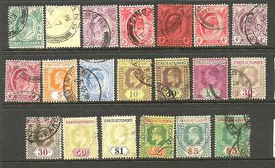 Straits Settlements 1904-12   Kevii  Part Set  Fu