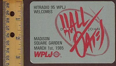 Daryl Hall & John Oates - 1985 WPLJ (NYC) Satin Concert Souvenir Patch! New!