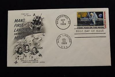 Space Cover 1969 Apollo 11 Moon Landing  & 1St Day Issue Dual Cancel (816)