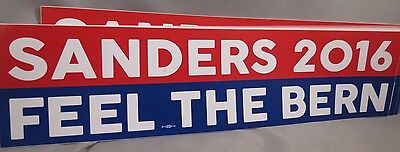 Wholesale Lot Of 20 Bernie Sanders Feel The Bern Bumper Stickers 2016 President
