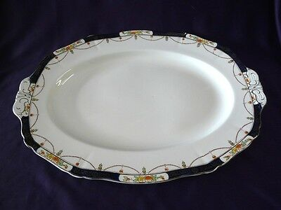 """Alfred Meakin China Solway Pattern Oval Platter 16-1/2"""""""