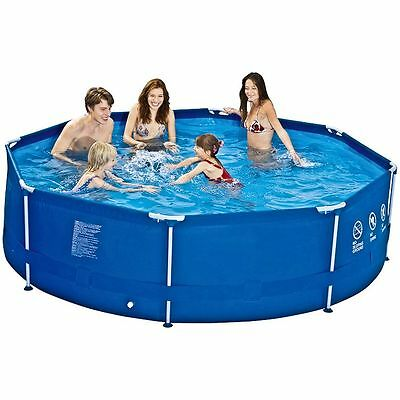 SWIMMING POOL  ROUND 3m  x 76cm  DELUXE ULTRA STEEL FRAME GARDEN