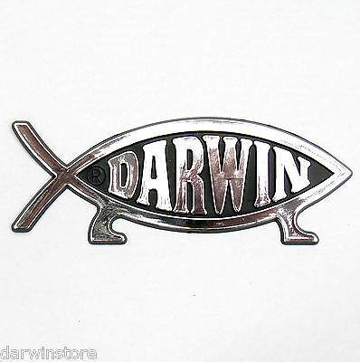 DARWIN FISH (on legs) CAR EMBLEM BADGE symbol plaque