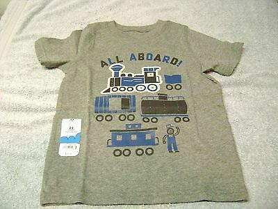 Boys  Shirt  Train  Size 12  Months  New  Says: All Aboard !