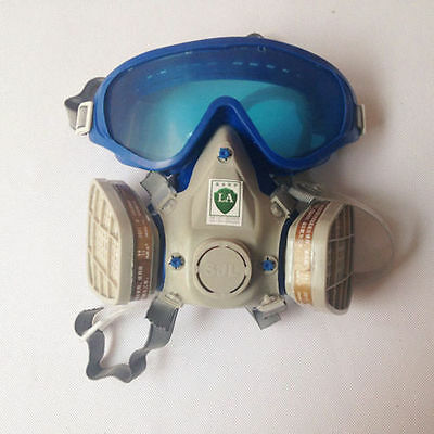 Respirators Protect Gas Mask Double Filter Respirators with Goggles Glasses
