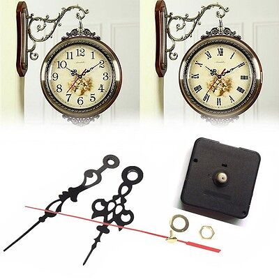 Black Long Spindle Hands Quartz Clock Movement Mechanism DIY Repair Tool Set CA
