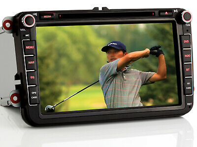 "8"" DVD GPS NAVI Für VW PASSAT GOLF 6 TIGUAN TOURAN Sharan POLO Caddy Jetta SEAT"