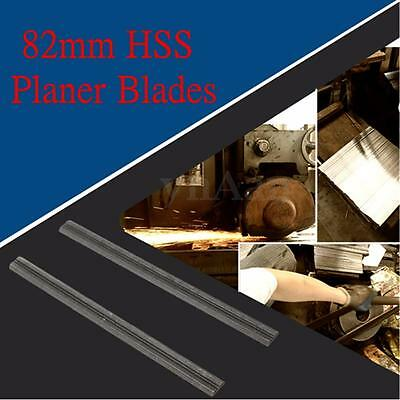 2Pcs 82mm Reversible High Speed Steel Planer Blades For Electric Power Tool